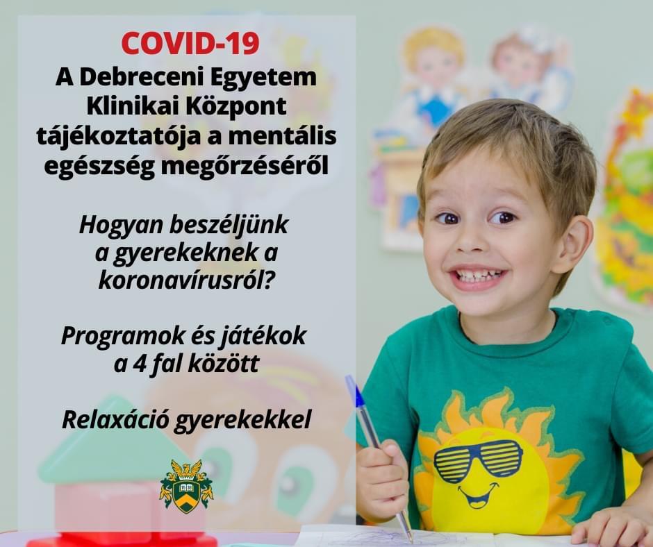 Mentális egészségmegőrzés - Szülőknek és gyerekeknek a koronavírusról